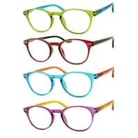 Modern Round Reading Glasses 4 Pair Pack