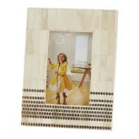 Wide Border Dotted Bone Photo Frame