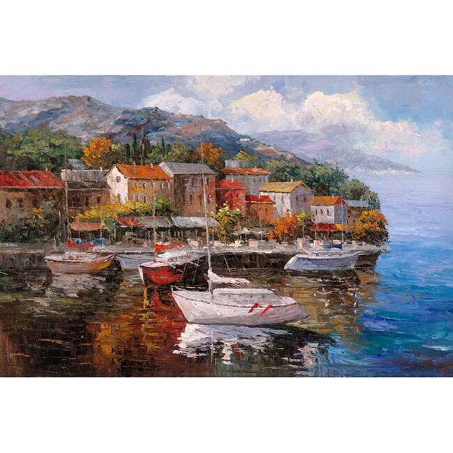 Joval 'At Sea' Extra Large Canvas Art