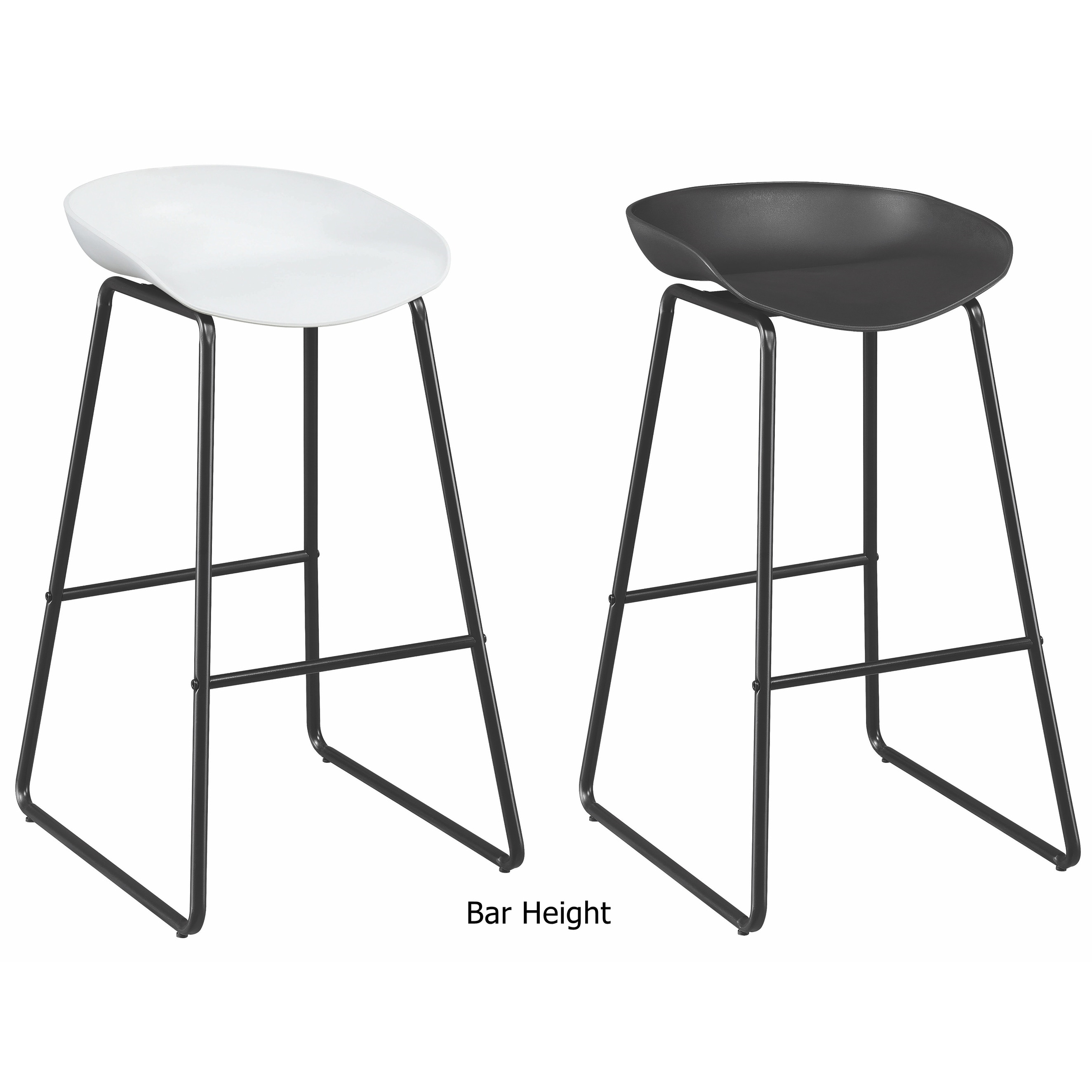 Super Contemporary Modern Sled Design Dining Stools Set Of 2 Gmtry Best Dining Table And Chair Ideas Images Gmtryco