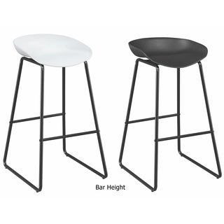 Contemporary Modern Sled Design Dining Stools (Set of 2)