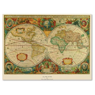 Map art gallery for less overstock old world map painting on canvas publicscrutiny Images