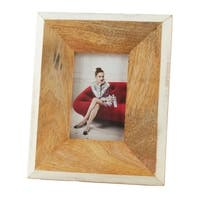 Saro Lifestyle Two-tone Border Wooden Photo Frame