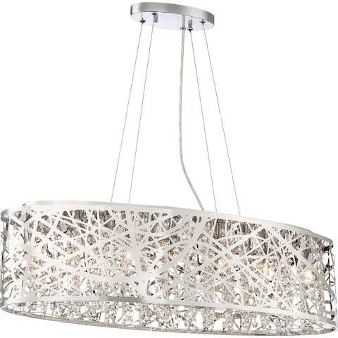 Silver Orchid Selma Polished Chrome 7-light Island Chandelier