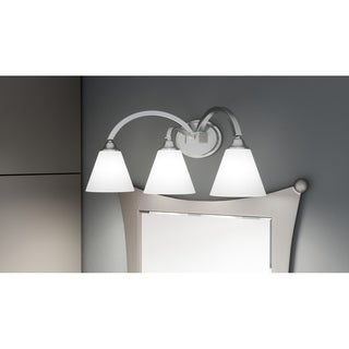 Porch & Den Raleigh 3-light Curved-arm Vanity Light