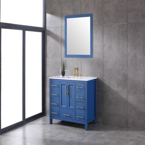 Eviva Navy 42 inch Blue Vanity