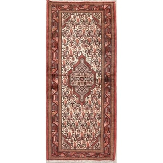 "Hamedan All-Over Geometric Handmade Wool Persian Oriental Rug - 6'3"" x 2'9"" Runner"