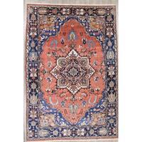 "Heriz Serapi Geometric Handmade Wool Persian Oriental Area Rug - 18'7"" x 12'7"""