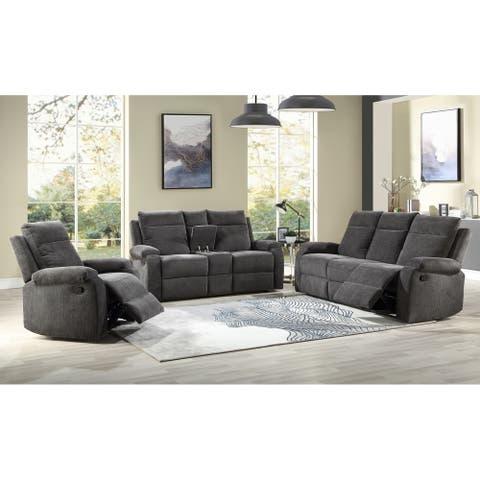 Eldon Reclining 3-Piece Living Room Set by Greyson Living