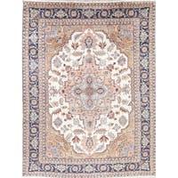 "Heriz Serapi Geometric Handmade Wool Persian Oriental Area Rug - 10'6"" x 8'0"""
