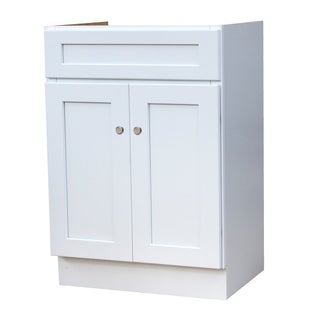 24X18 White Shaker Bathroom Vanity