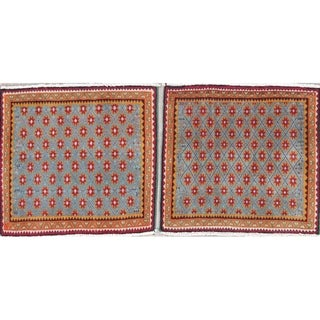 """Pack of 2 Abadeh All-Over Geometric Handmade Wool Persian Oriental Rug - 2'3"""" x 2'1"""" Square"""