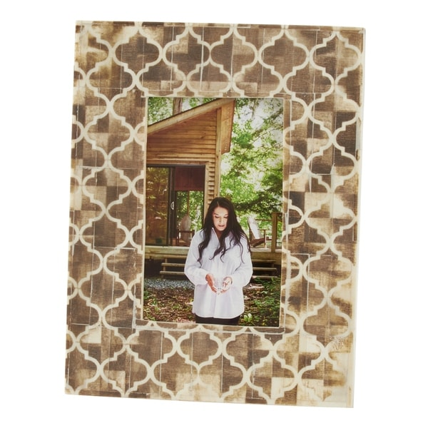 Saro Lifestyle Moroccan Design Bone Photo Frame