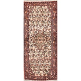 "Hamedan All-Over Geometric Handmade Wool Persian Oriental Rug - 6'2"" x 2'8"" Runner"