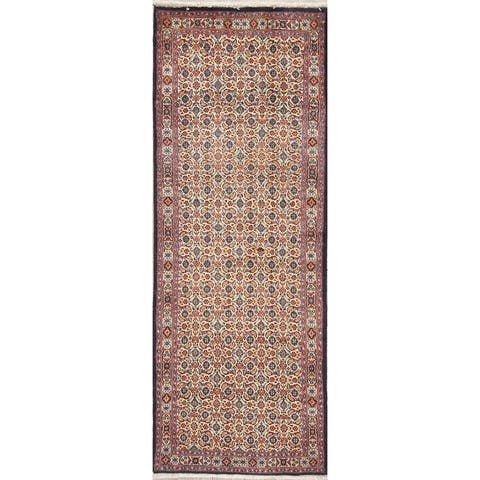 "One of a Kind Mood All-Over Handmade Wool Persian Oriental Rug - 6'9"" x 2'6"" Runner"