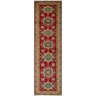 eCarpetGallery  Hand-knotted Finest Gazni Red Wool Rug - 2'7 x 9'6