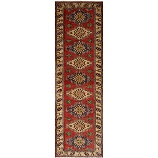 eCarpetGallery  Hand-knotted Finest Gazni Red Wool Rug - 2'7 x 9'3