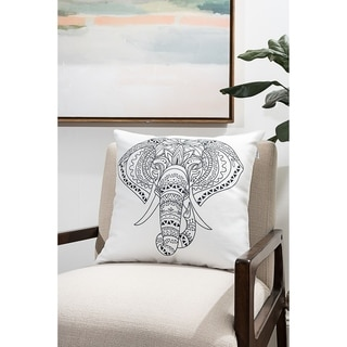 Elephant Modern Pillow (Accent - 18 x 18 - Polyester)
