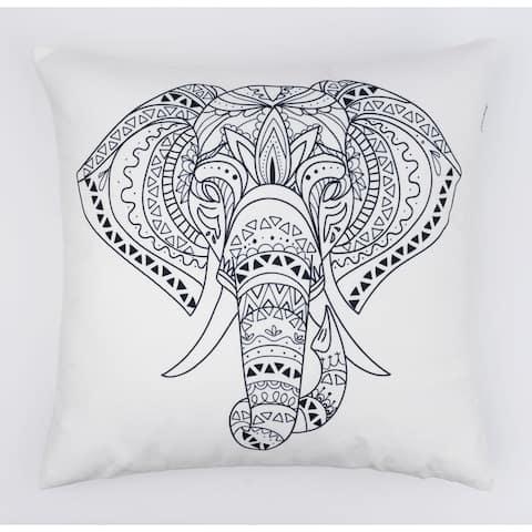 Elephant Modern Pillow