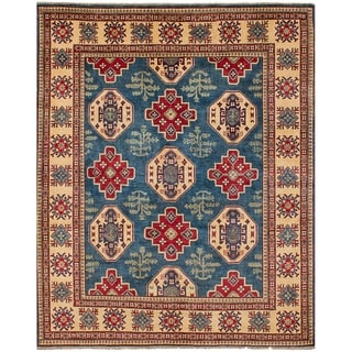 eCarpetGallery  Hand-knotted Finest Gazni Blue Wool Rug - 8'0 x 10'0