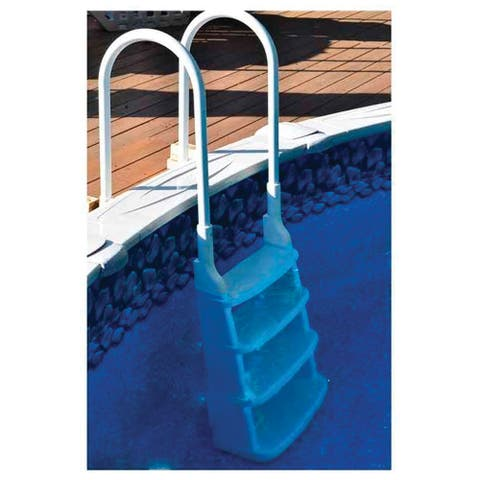 Snap-Lock Deck Ladder for Above-Ground Swimming Pools in White - 60-in Max Height