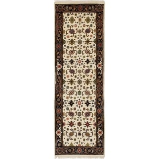 eCarpetGallery  Hand-knotted Serapi Heritage Cream Wool Rug - 2'6 x 7'10