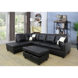 Copper Grove Faux Leather Sectional