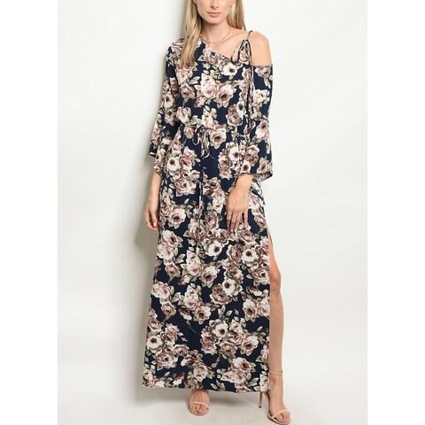 JED Women's Single Shoulder Floral Maxi Dress