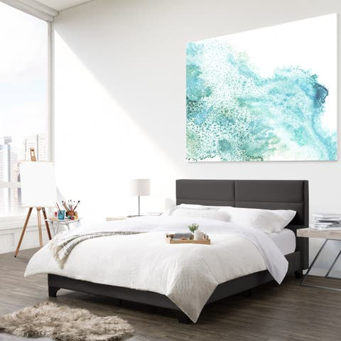 CorLiving Bellevue Queen Wide-Rectangle Panel Upholstered Bed and Frame