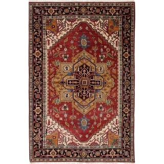 eCarpetGallery  Hand-knotted Serapi Heritage Red Wool Rug - 6'1 x 9'1