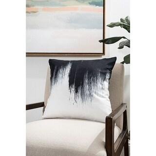 Inkblot Modern Pillow (Accent - 18 x 18 - Polyester)