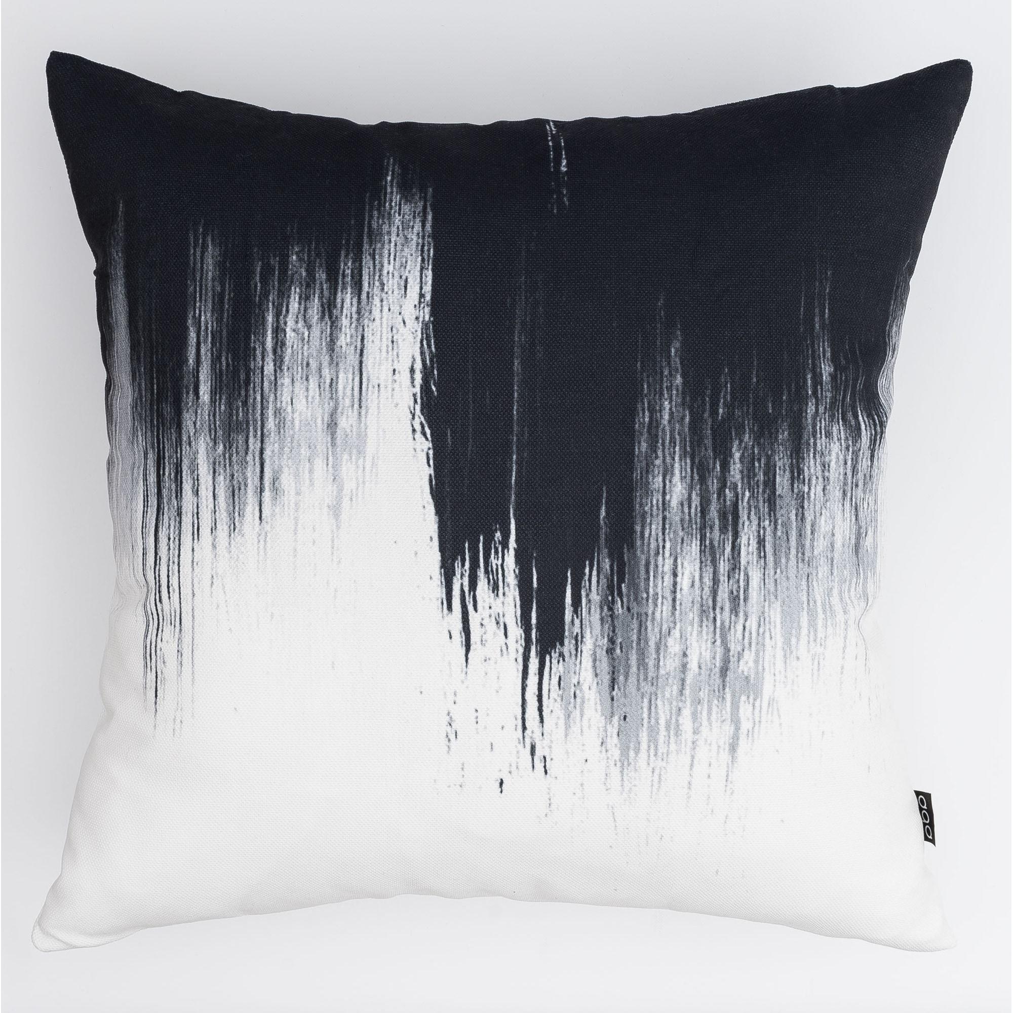 Inkblot Modern Pillow (Accent - 16 x 16 - Polyester)