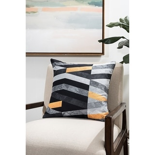 Marble Stripes Modern Pillow (Accent - 18 x 18 - Polyester)