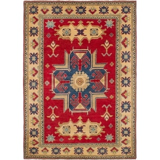 eCarpetGallery  Hand-knotted Finest Gazni Red Wool Rug - 5'0 x 7'0