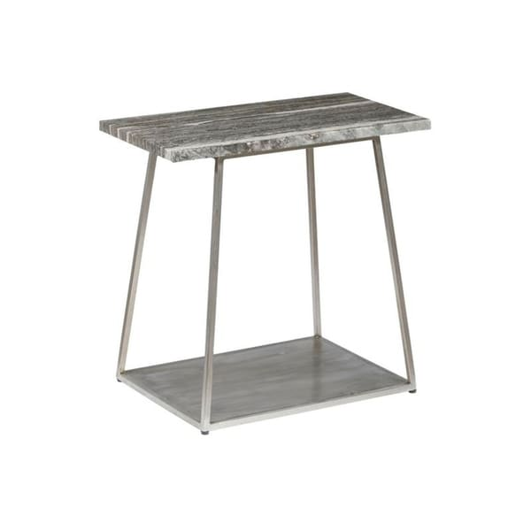 Modern Grey and Sand Natural Stone Top End Table