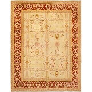 eCarpetGallery  Hand-knotted Chobi Finest Cream Wool Rug - 9'5 x 11'10