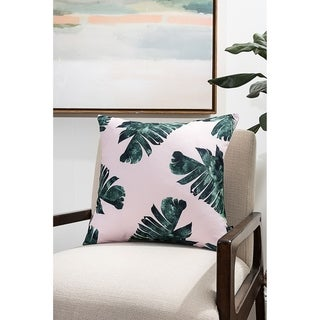 Bright Greenery Modern Pillow (Accent - 18 x 18 - Polyester)