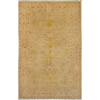 eCarpetGallery  Hand-knotted Chobi Finest Tan Wool Rug - 5'1 x 7'9
