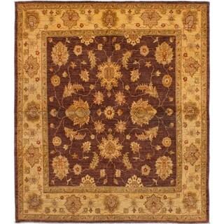 eCarpetGallery  Hand-knotted Chobi Finest Burgundy Wool Rug - 6'5 x 7'4