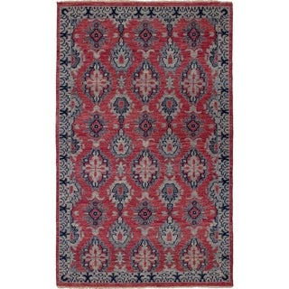 eCarpetGallery  Hand-knotted Beaumont Light Red Wool Rug - 5'0 x 8'2