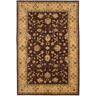 eCarpetGallery  Hand-knotted Chobi Finest Dark Brown Wool Rug - 6'5 x 9'9