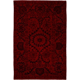 eCarpetGallery  Hand-knotted Color transition Red Wool Rug - 6'2 x 9'1