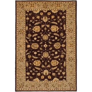 eCarpetGallery  Hand-knotted Chobi Finest Dark Brown Wool Rug - 6'6 x 9'7