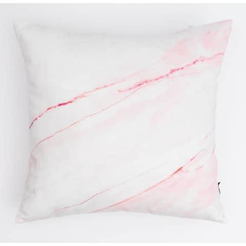 Pink Marble Modern Pillow
