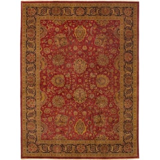 eCarpetGallery  Hand-knotted Jamshidpour Dark Red Wool Rug - 8'7 x 11'7