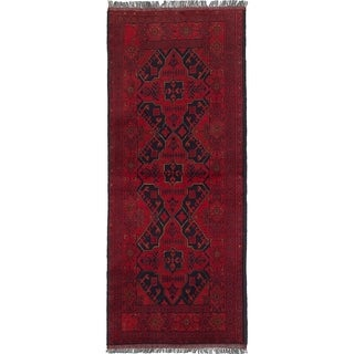 eCarpetGallery  Hand-knotted Finest Khal Mohammadi Red Wool Rug - 2'5 x 6'3