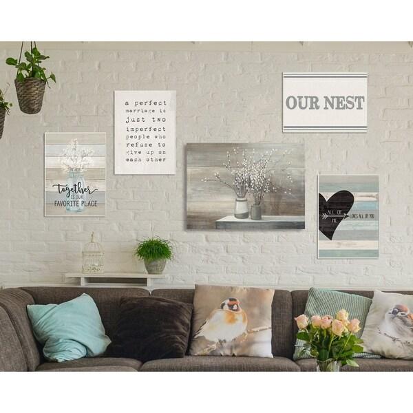 Porch & Den Our Nest' 5-piece Gallery Wall Art Set