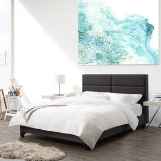 CorLiving Bellevue Full/Double Wide-Rectangle Panel Upholstered Bed and Frame