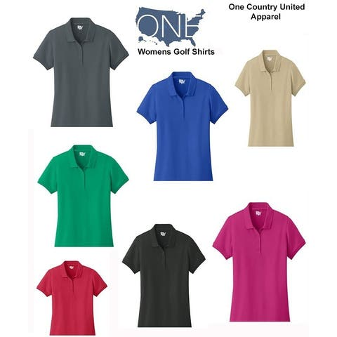 One Country United Ladies Core Classic Pique Short Sleeved Golf Polo