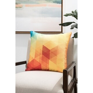 Porch & Den Gable Park Bright Geometric Modern Pillow (Accent - 18 x 18 - Polyester)